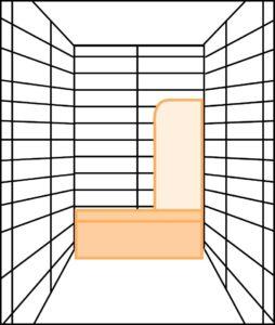 azulejos alargados dispuestos en horizontal