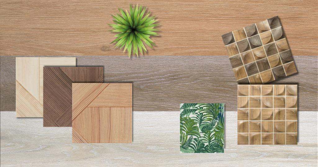 Acabado de madera en azulejos