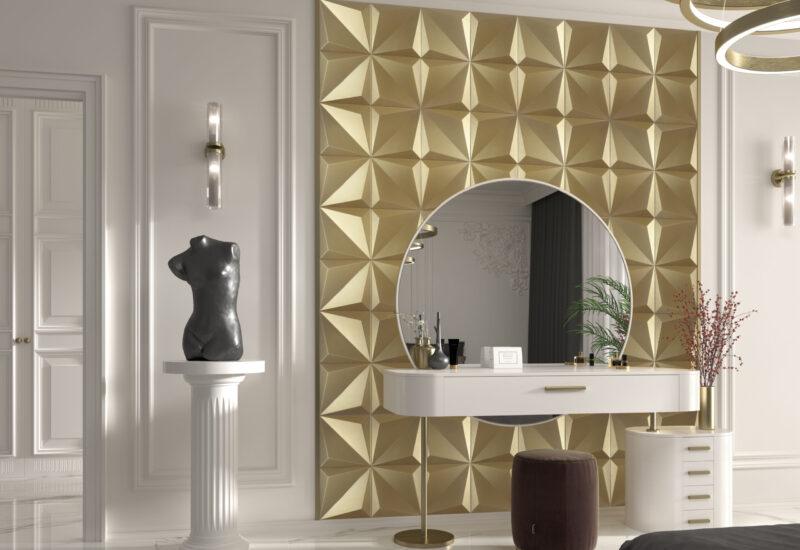 Amb Shapes Origami Dorado Calacatta 90X90