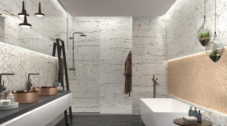 azulejos efecto mármol para baños