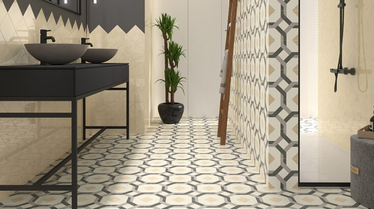 azulejos cerámicos hidráulicos para baño