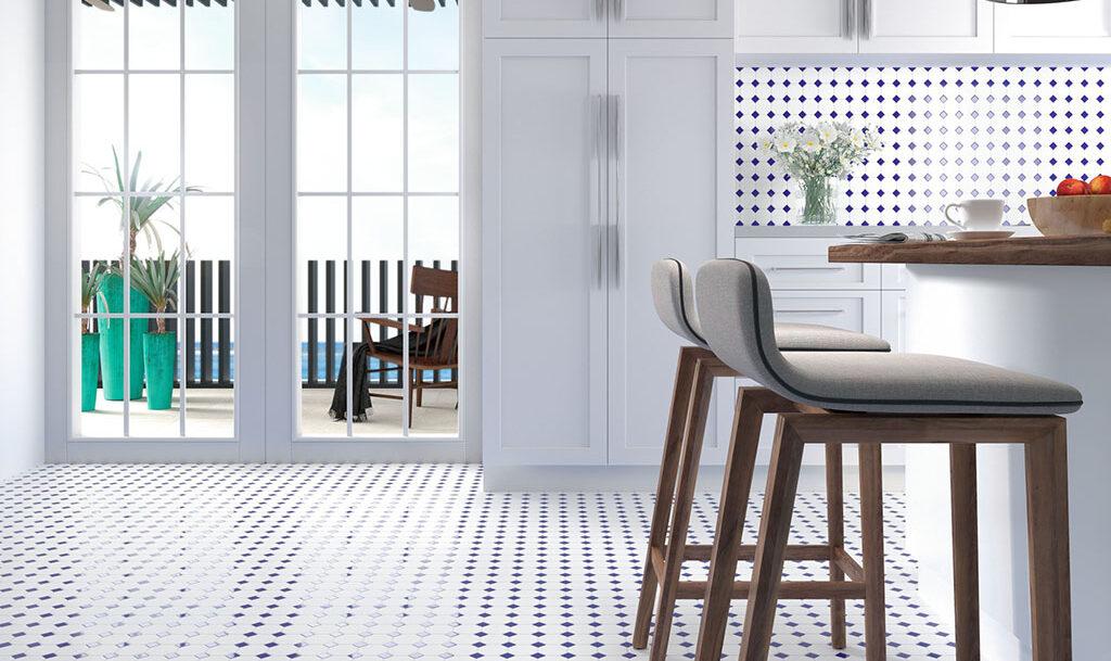 Mosaico para suelo de cocina Oxford Blue