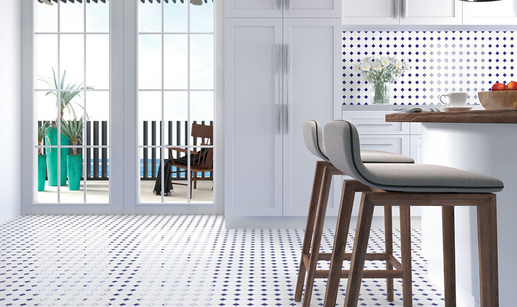 Mosaico para suelo de cocina