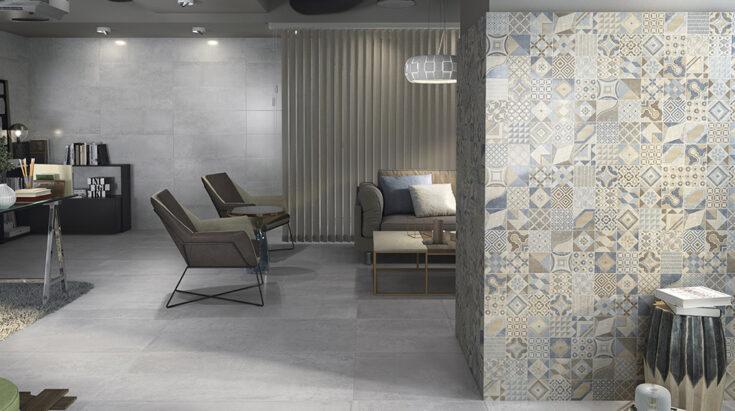 suelo de cerámica imitación cemento