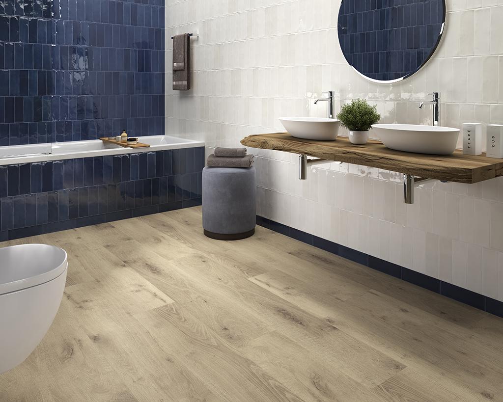 suelos vinílicos SPC imitación madera para baño