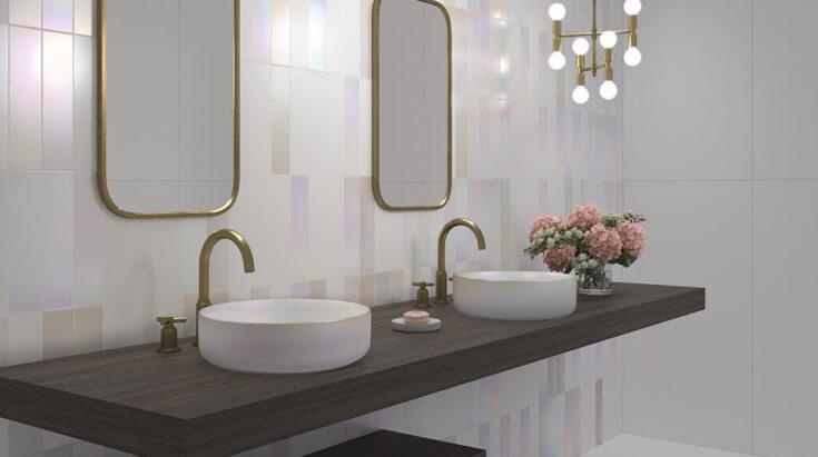 lavabos modernos iridiscentes nuevas tendencias