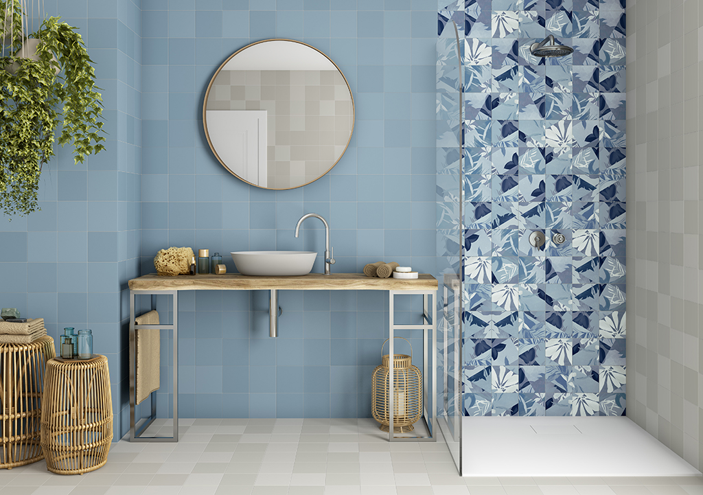 Colores frescos para baños de verano